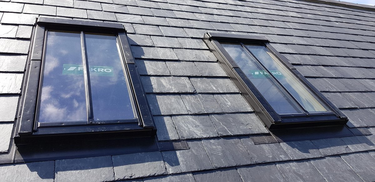 Slate Roof With Conservation Windows, Sheffield